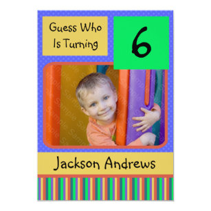 6 Year Old Birthday Party Invitations BOY
