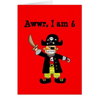 6 year old pirate boy card