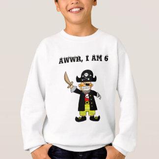 6 year old pirate boy sweatshirt