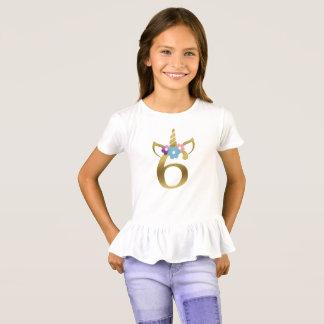 6 years old Unicorn Birthday Girl for Kids T-Shirt
