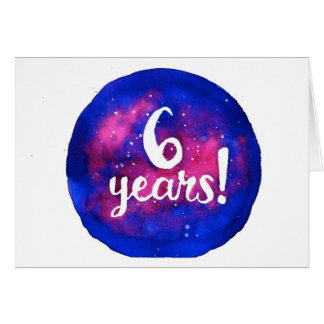 6 Years Sobriety Birthday / Anniversary Card