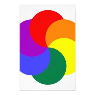 6partialmoonsrainbow COLORFUL GRAPHIC CIRCLE CIRCU Customized Stationery