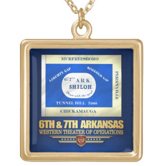 6th & 7th Arkansas Infantry (consolidated) Gold Plated Necklace