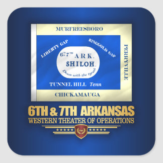 6th & 7th Arkansas Infantry (consolidated) Square Sticker