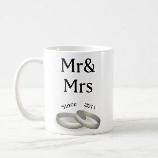 6th anniversary matching Mr. And Mrs. Since 2011 Coffee Mug
