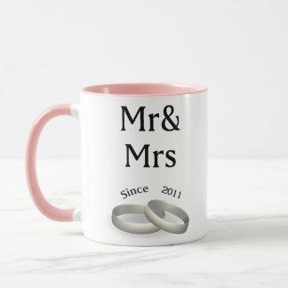 6th anniversary matching Mr. And Mrs. Since 2011 Mug