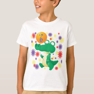6th Birthday Alligator T-Shirt