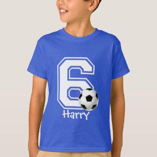 6th Birthday Boy Soccer Personalized 3 T Shirt
