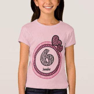 6th Birthday Gift Zebra Polka Dot Pattern V03 T-Shirt
