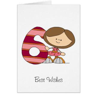 6th Birthday - Greetings Card - Girl