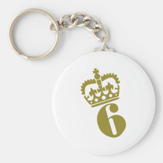 6th Birthday - Number – Six Key Ring
