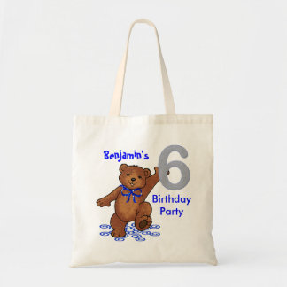 6th Birthday Party Bears Goodie Tote Bag
