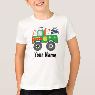 6th Birthday Personalized Monster Truck Tee