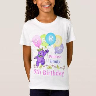 6th Birthday Princess, Custom Name T-Shirt