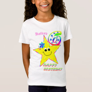 6th Birthday Smiley Stars Shirt