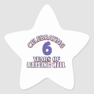 6th gift items star stickers