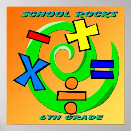6th Grade Rocks Postcard | Zazzle |Sixth Grade Rocks
