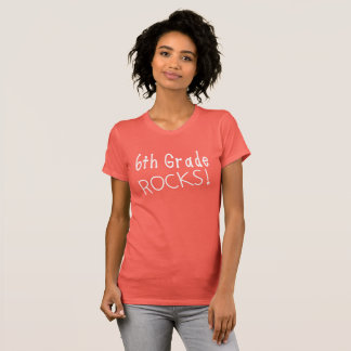 6th Grade Rocks T-Shirt. T-Shirt