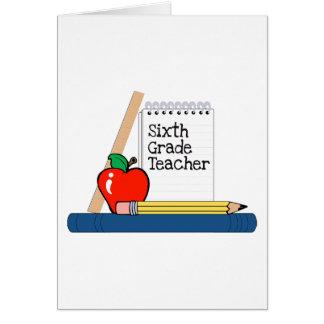 6th Grade Teacher (Notebook) Card