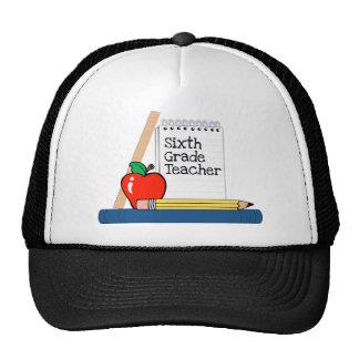6th Grade Teacher (Notebook) Mesh Hats