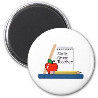 6th Grade Teacher (Notebook) Refrigerator Magnet
