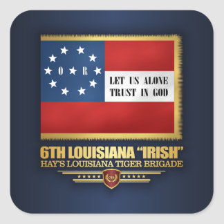 "6th Louisiana ""Irish"" Infantry Square Sticker"