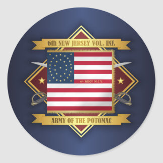 6th New Jersey Volunteers Classic Round Sticker