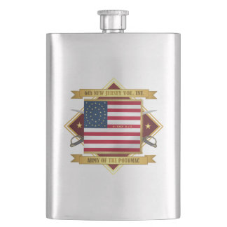 6th New Jersey Volunteers Hip Flask