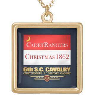 6th SC Cavalry (Cadet Rangers) Gold Plated Necklace