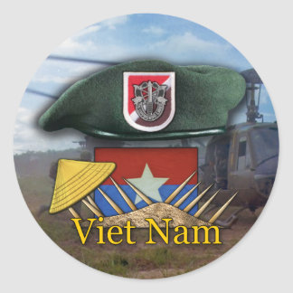 6th Special forces green berets vietnam Sticker