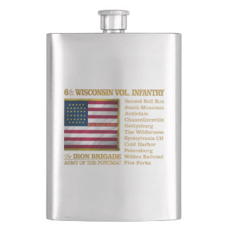 6th Wisconsin Volunteer Infantry (BH) Hip Flask