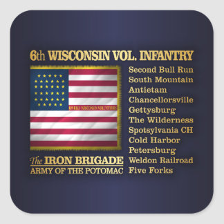 6th Wisconsin Volunteer Infantry (BH) Square Sticker