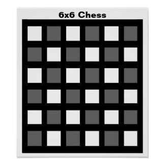 "6x6 - Chess TAG Grid (1-1/4"" fridge magnets) Poster"