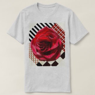 6x Plus Size Red Rose Collage Shirt