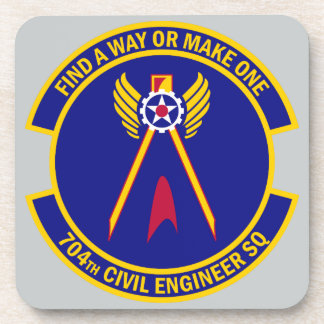704th Civil Engineer Squadron Beverage Coasters