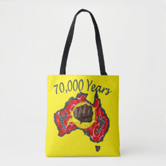 70,000 Years Aboriginal Tote Bag