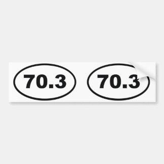 70.3 miles half Triathlon Bumper Sticker