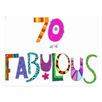 70 and Fabulous 70th Birthday Postcard