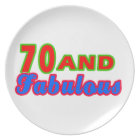 70 and Fabulous Birthday Designs Plate