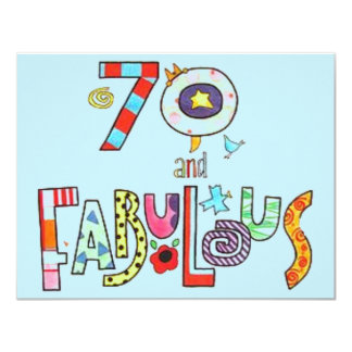 70 and Fabulous Happy 70th Birthday Card