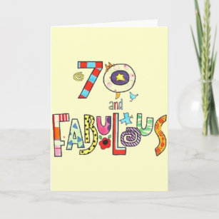 70 Year Old Birthday Cards