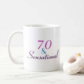 70 and Sensational 70th Birthday Classy Gift Coffee Mug
