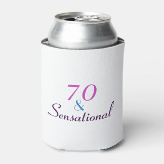70 and Sensational 70th Birthday Fun Gift Can Cooler