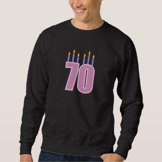 70 Birthday Candles (Pink / Purple) Sweatshirt
