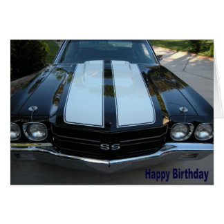 70 Chevelle Happy Birthday Card
