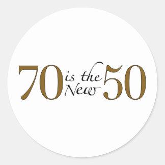 70 Is The New 50 Round Sticker