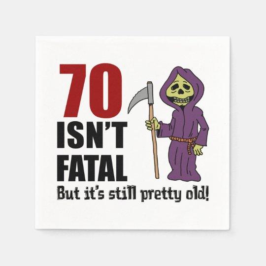 70 Isn't Fatal But It's Still Old Grim Reaper Paper Napkins