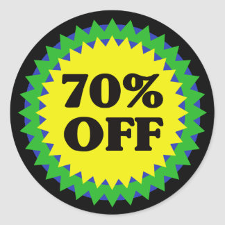 70% OFF RETAIL SALE Sticker