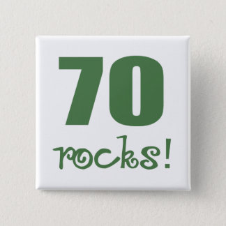 70 Rocks! 15 Cm Square Badge