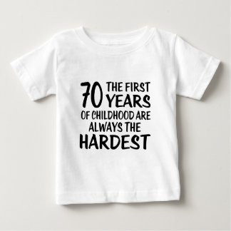 70 The First  Years Birthday Designs Baby T-Shirt